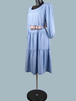 Платье расклешенное джинсовое