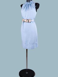 Платье миди  голубое