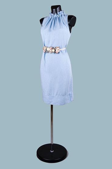 Летнее голубоеплатье миди. Италия. 100% лиоцелл. Размер: 42-48.