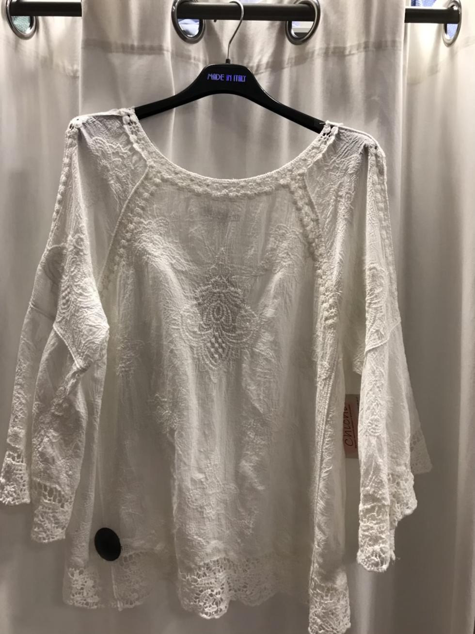 Блузка белая  с шитьем