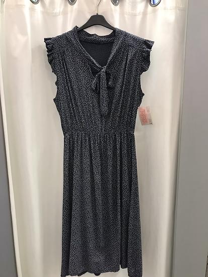 Платье в мелкий цветочек синее 22911510