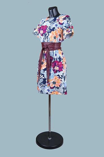 Платье миди с рисунком прямое. Польша. Размер: 46-50