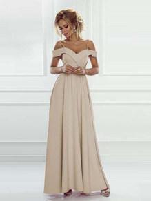 Вечернее платье в пол шампань 1757