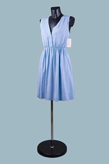 Летнее голубое платье. Италия. Лиоцелл. Размер: 42-46