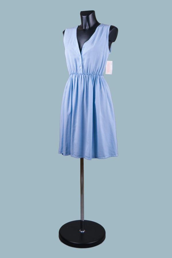 Платье голубое летнее