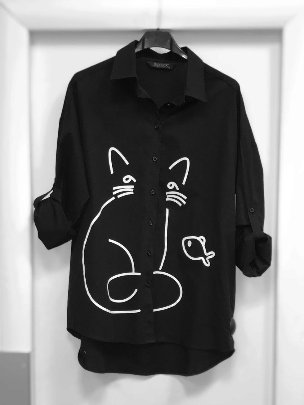 Блузка черная 264102