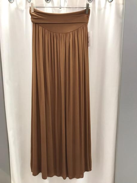 Юбка длинная коричневая 9449