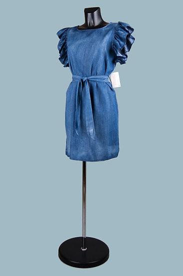 Короткое платье джинсового цвета. 100% лиоцелл. Италия. Размер: 42-48