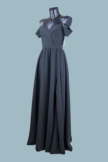 Платье в пол для выпускного 2020 черное. Польша. Размер: 42-46