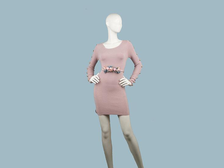 Платье пудра 241811