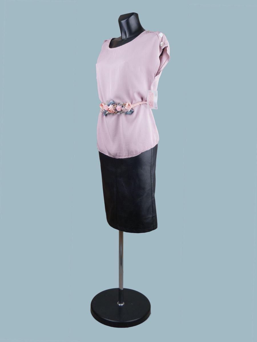 Летняя  удлиненная блузка розовая