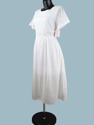 Платье летнее миди белое