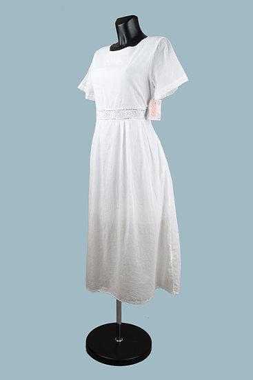 Летнее платье белое на подкладке. Польша.Размер: 46-50
