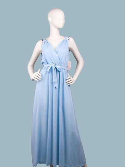 Длинное летнее платье в греческом стилеголубое. Италия. Размер: 42-50. 100% лиоцелл.