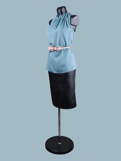Летняя блузка без рукавов мятная
