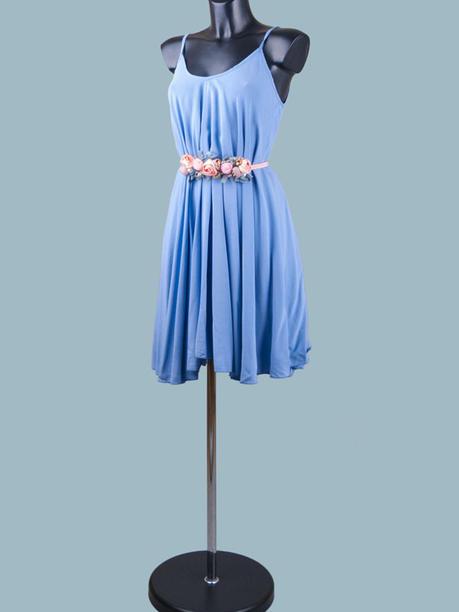 Сарафан голубой расклешенный