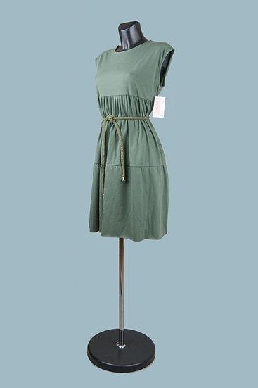 Трикотажное платье хаки.Италия. Размер: 44-50