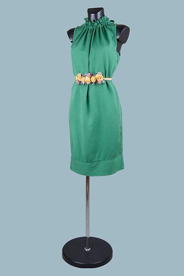 Летнее зеленоеплатье миди. Италия. 100% лиоцелл. Размер: 42-48.