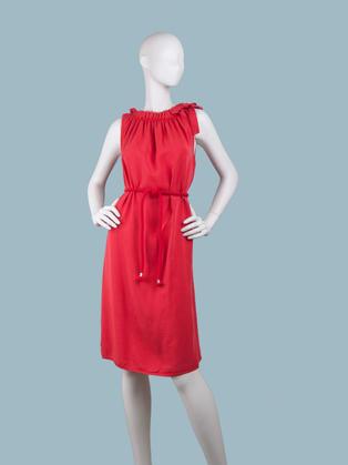 Платье летнее  красное миди