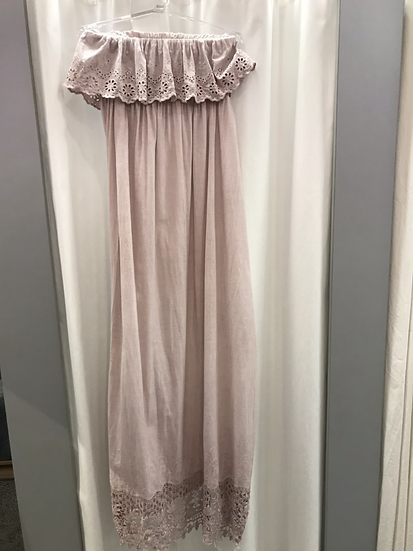 Сарафан розовый с шитьем 9810