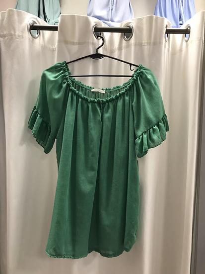 Блузка зелёная 19650710