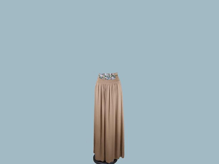 Юбка юбка в пол коричневая