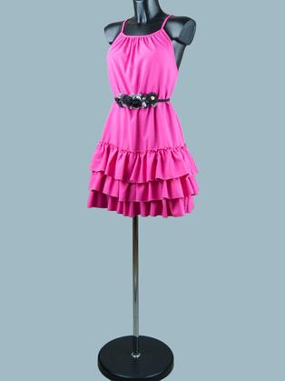 Нарядное платье фуксия 1957
