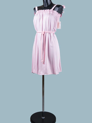 Сарафан короткий розовый