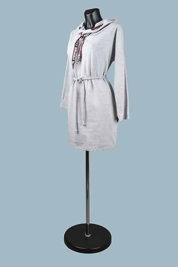 Трикотажное платье серое.Италия. Размер: 40-46