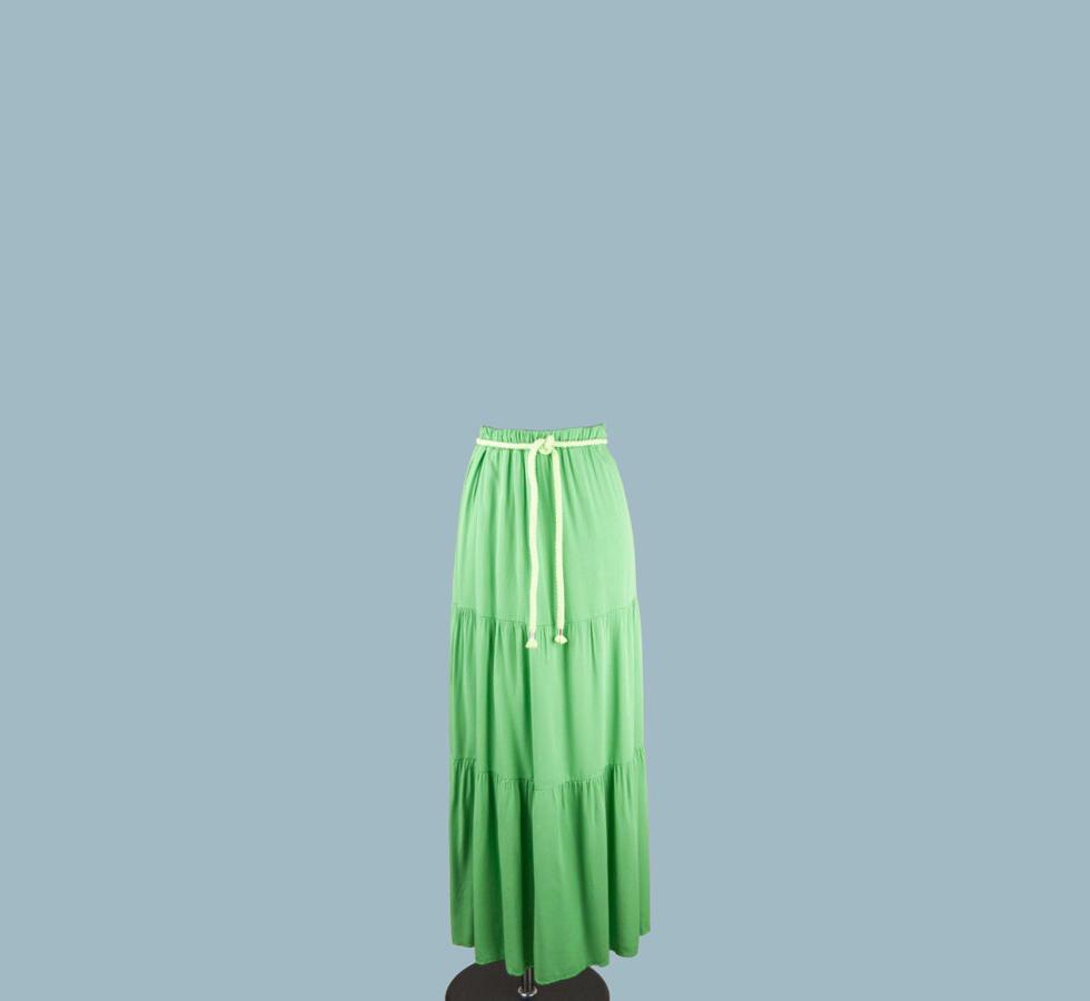 Бабка юбка длинная салатовый с воланами