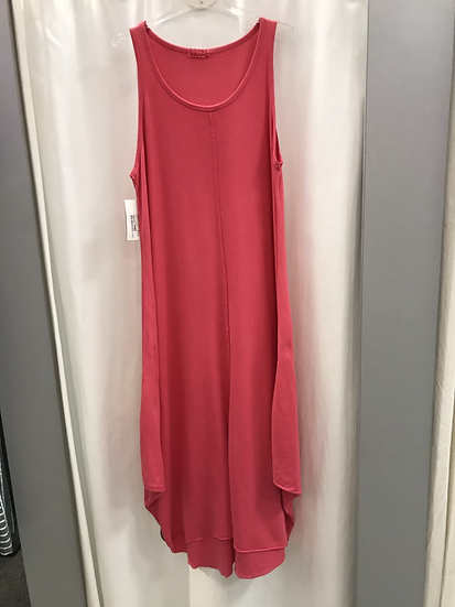 Длинное трикотажное платье фуксия 15763510