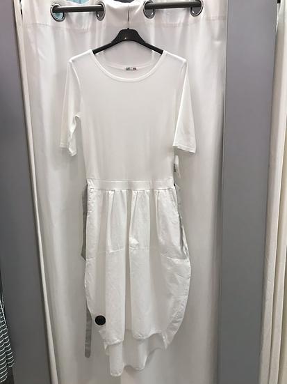 Платье с юбкой баллон белое 11150110