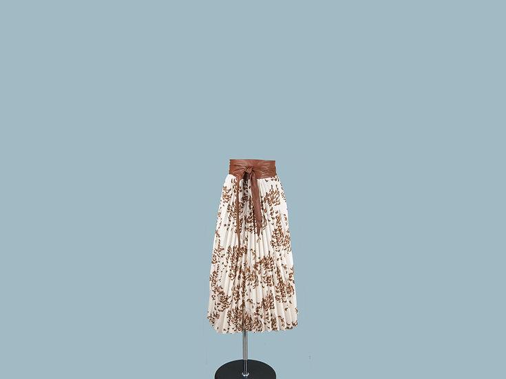 Юбка плиссированная светлая с рисунком 23990010