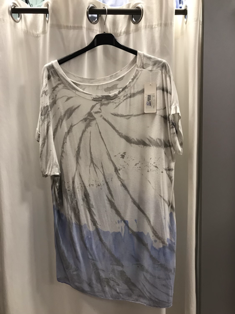 Блузка голубая 9728