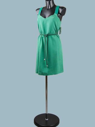 Платье- сарафан зеленое 1969