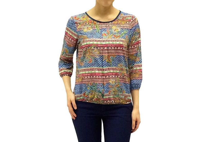 Нарядная блузка с узором 100104