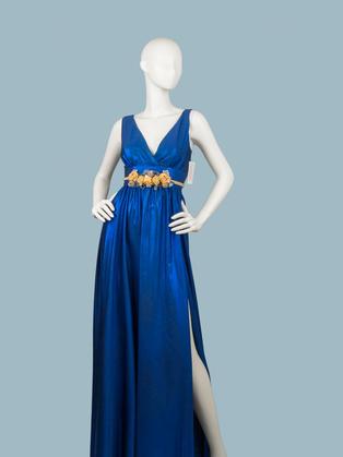 Вечернее платье в пол синее 1773