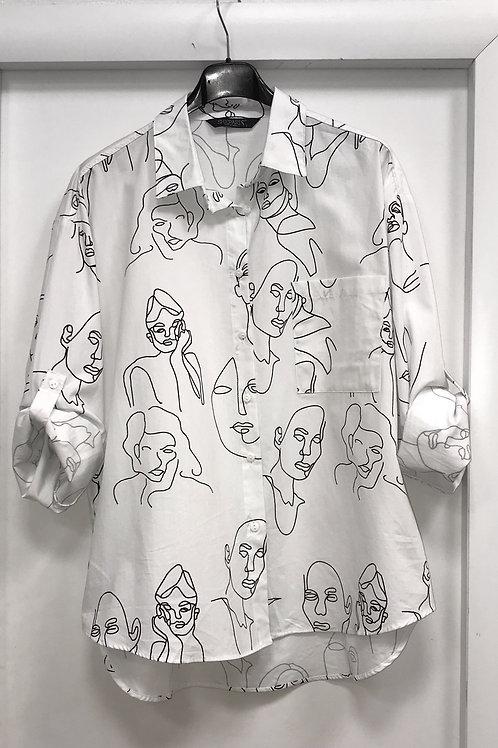"""Блузка белая"""" 264301"""