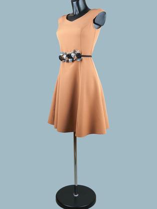 Платье нарядное  бежевое 2088