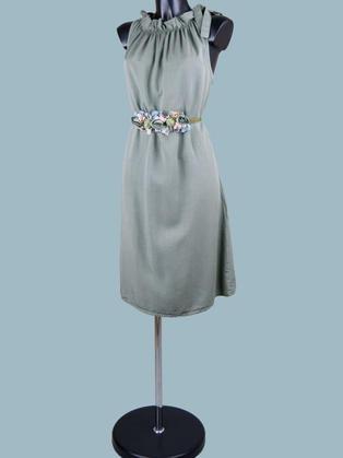 Платье  миди  хаки 22212410