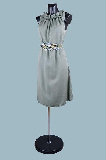 Летнее платье миди хаки. Италия. 100% лиоцелл. Размер: 42-48