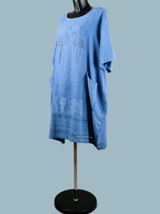 Платье  льняное свободное 1955
