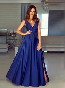 Вечернее платье в пол темно синее 1773