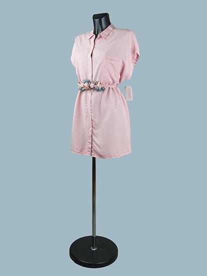 Платье- рубашка розовое короткое | chichi