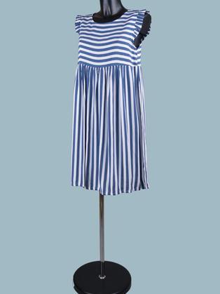 Платье в синюю полоску короткое