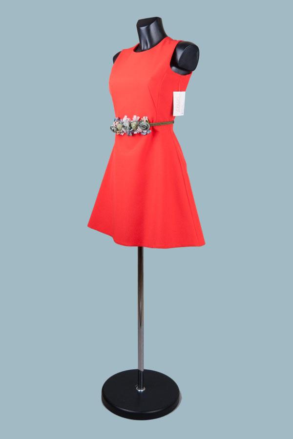 Платье - футляр короткое  9891