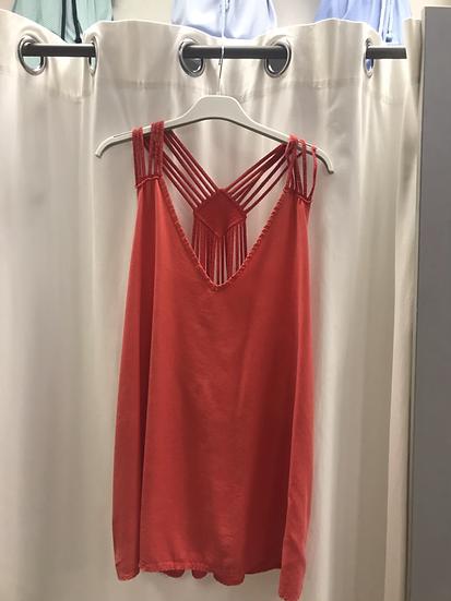 Блузка свободная красная 23320410