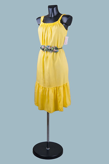 Желтый сарафан А -образный силуэт. Италия. 100% лиоцелл. Размер: 42-48