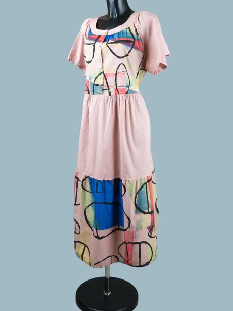 Платье летнее бохо розовое