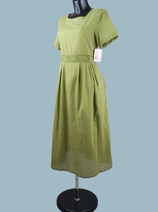 Платье летнее миди хаки